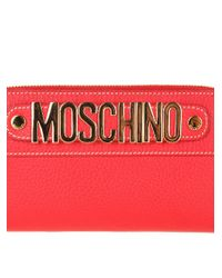 Moschino - Red Leather Wallet - Lyst