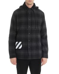 807c4b0a55d8 Off-White c o Virgil Abloh Checked Cotton in Black for Men - Lyst