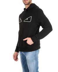 Fendi - Bugs Meshhoodie In Black Jersey for Men - Lyst