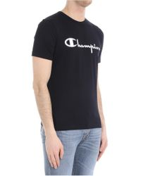 Paolo Pecora - Black T-shirt (champion Collaboration) for Men - Lyst