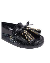 Car Shoe - Black Patent Leather Mocassins - Lyst