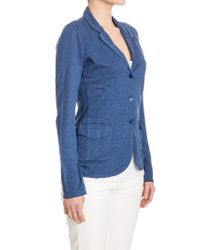 Majestic Filatures - Blue Single Breasted Jacket - Lyst