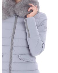 "Peuterey - Gray ""misae Ag"" Grey Down Jacket - Lyst"
