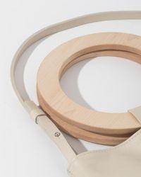 Modern Weaving - Natural Exclusive Mini Wood Handle Circle Tote - Lyst