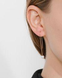 Gabriela Artigas - White Single Pearl On Hook Earring - Lyst