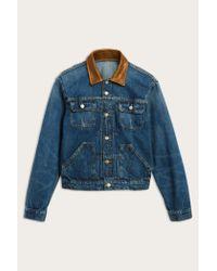 Frye Blue Otis Denim Trucker Jacket for men