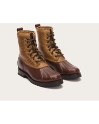 Frye - Brown Veronica Duck Boot Shearling - Lyst