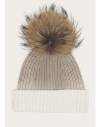 Frye - White Women's Dip Dye Pom Hat - Lyst
