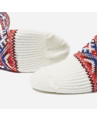 Anonymous Ism - White Estonian Jacquard Socks for Men - Lyst