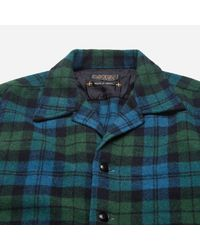 Beams Plus - Blue Checked Camp Collar Shirt Jacket for Men - Lyst
