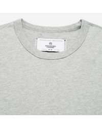 Reigning Champ - Gray Crewneck T-shirt for Men - Lyst