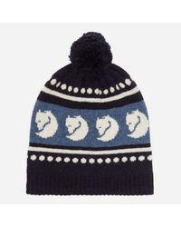 Fjallraven Ovik Bobble Hat in Blue for Men - Lyst c9ec3d9bee6d
