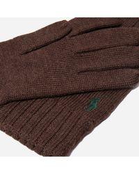 Polo Ralph Lauren - Brown Merino Wool Gloves for Men - Lyst