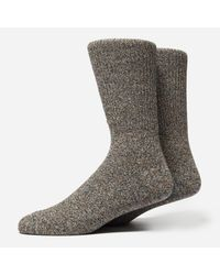 Anonymous Ism - Green Mock Rib Socks for Men - Lyst