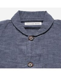 Universal Works - Blue Seal Cotton Shawl Collar Overshirt for Men - Lyst