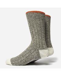 Universal Works - Cool Orange Green Socks 6503 for Men - Lyst