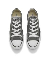 Converse - Gray Unisex Chuck Taylor All Star Ox Canvas Trainers - Lyst