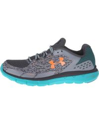 Lyst - Under Armour Micro G Velocity Rn Storm Running Shoes in Blue ... 9d2f65042a67d