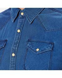 Scotch & Soda - Blue Western Denim Shirt for Men - Lyst