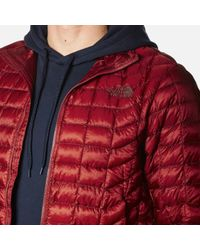 The North Face - Red Thermoball Full Zip Jacket for Men - Lyst