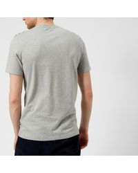 Aquascutum - Gray Southport Cc Shoulder Short Sleeve T-shirt for Men - Lyst