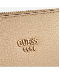 Guess - Natural Kamryn Mini Convertible Cross Body Bag - Lyst