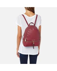 MICHAEL Michael Kors - Red Rhea Zip Medium Backpack - Lyst