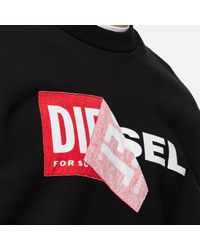DIESEL Black S-samy 218_1 Sweatshirt for men