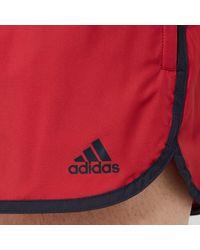 Adidas Red Split Swim Shorts for men