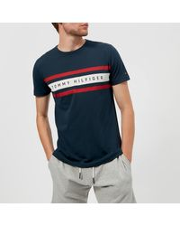 c4423a218 Tommy Hilfiger Logo Band Graphic T-shirt in Blue for Men - Lyst