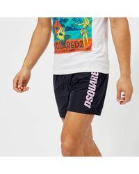 DSquared² - Blue Men's Logo Swim Shorts for Men - Lyst