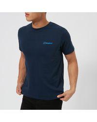 32ed0969871 Lyst - Berghaus Peak Short Sleeve T-shirt in Blue for Men