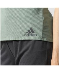 Adidas - Green Climachill Tank Top - Lyst