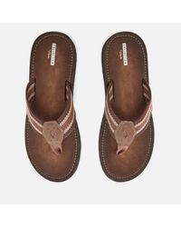 Clarks - Brown Lacono Sun Flip Flops for Men - Lyst