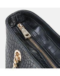 Love Moschino - Black Croc Shopper Tote Bag - Lyst