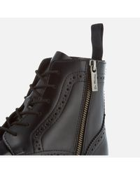 Dr. Martens - Black Kensington Delphine Polished Smooth Lace Up Boots - Lyst