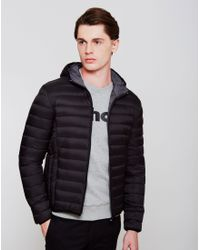 Schott Nyc - Silverado Light Weight Hooded Down Jacket Black for Men - Lyst