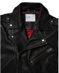 SELECTED - Black Greaser Leather Biker Jacket for Men - Lyst
