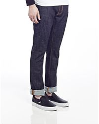 Nudie Jeans | Blue Thin Finn Dry Twill Jeans for Men | Lyst