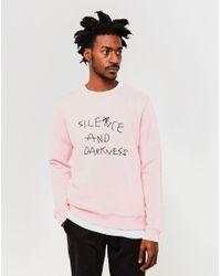 Soulland | Silence Sweatshirt Pink for Men | Lyst