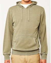 The Idle Man   Washed Hoodie Green for Men   Lyst