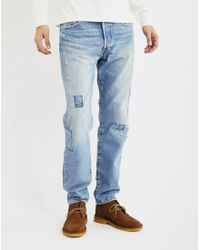 Levi's | Brown 501 Customized And Tapered Old Spitalfields Jean for Men | Lyst