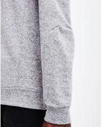 The Idle Man - Gray Panelled Sweatshirt Grey for Men - Lyst