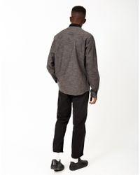 The Idle Man - Long Sleeve Fleck Shirt Black for Men - Lyst