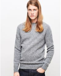 982c5b999bfe89 Lyst - YMC Suedehead Brushed Knit Jumper Grey in Gray for Men