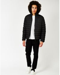 The Idle Man | Polyester Padded Puffer Jacket Black for Men | Lyst