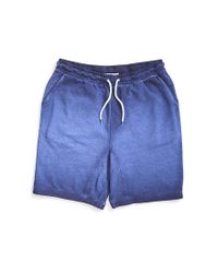 The Idle Man - Blue Acid Wash Jersey Short Navy for Men - Lyst