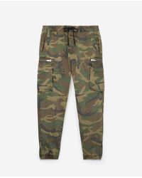 The Kooples Multicolor Camouflage-print, Japanese Denim Jeans Inspired By Cargo-style joggers for men