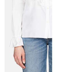 See By Chloé - Blue Ruffle Tuxedo Shirt - Lyst