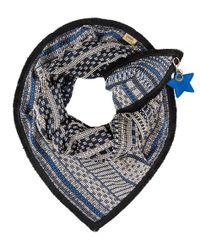 POM Amsterdam - Blue Premium Lady Shawl - Lyst